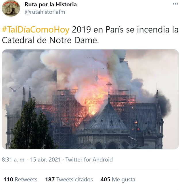 ¿Os acordáis cuando pensábamos que el incendio de Notre Dame era lo más histórico que íbamos a vivir en nuestras vidas?