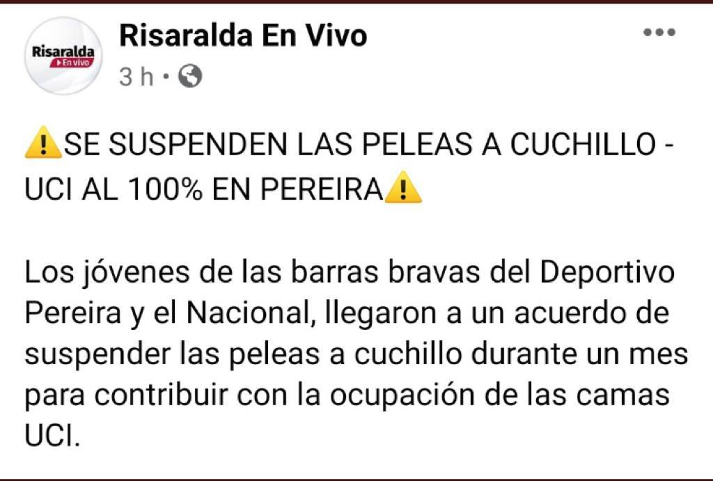 El ejemplo de responsabilidad y solidaridad de los jóvenes colombianos en esta pandemia emociona.