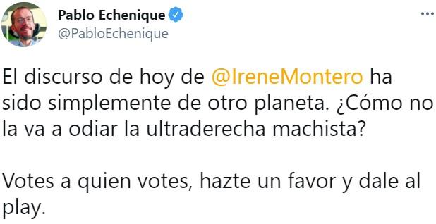 """""""La comunidad de Madrid con el Partido Popular es una comunidad insegura para las mujeres"""""""