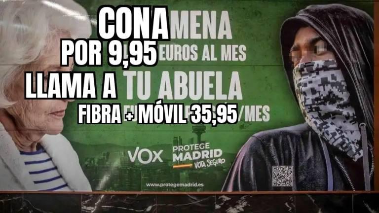 Buena idea para tunear los carteles de VOX