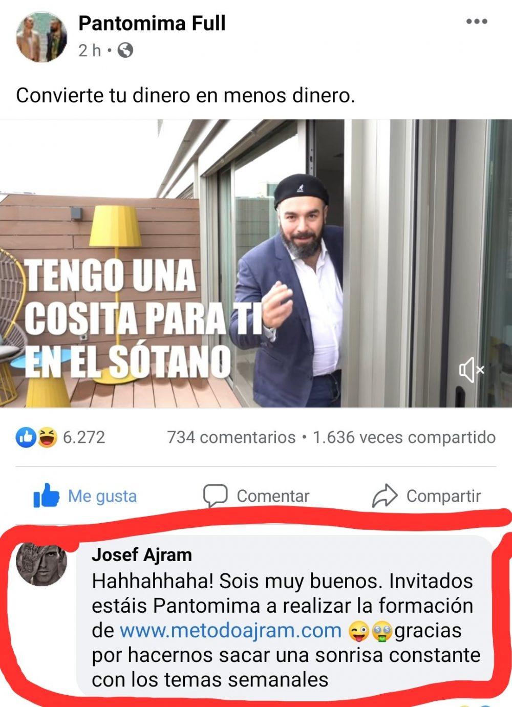 El método de Josef Ajram para ganar trillones es tan bueno tan bueno... que vende cursillos