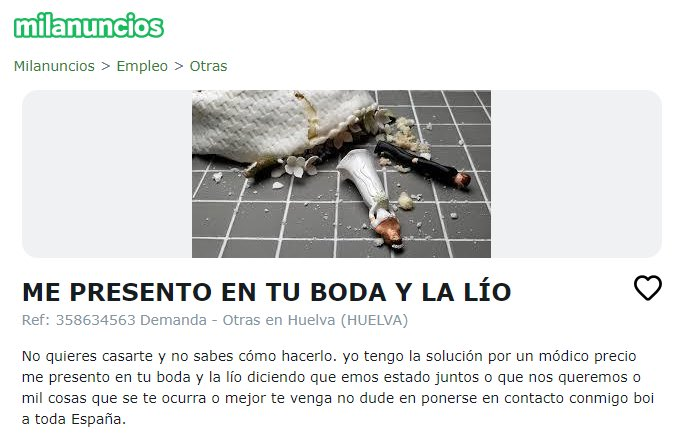 """""""Me presento en tu boda y la lío"""""""