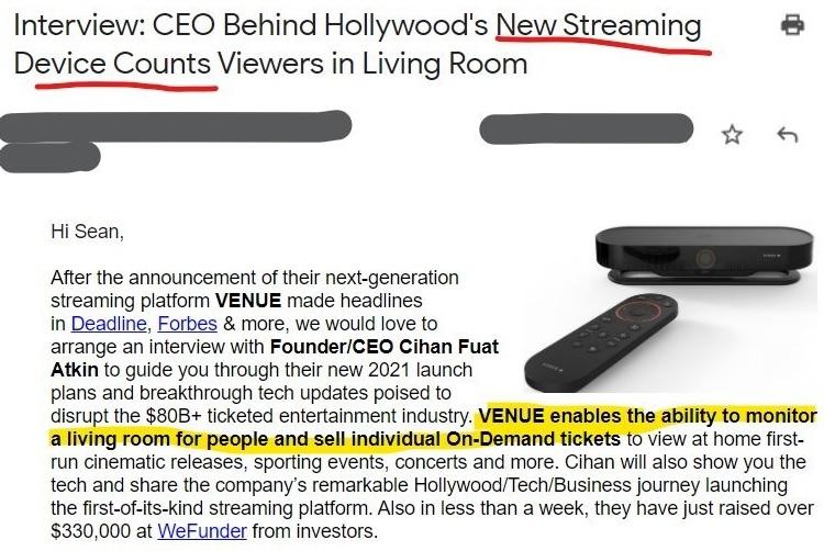 ¿El futuro del streaming será de pago por espectador? La gente de VENUE espera que sí