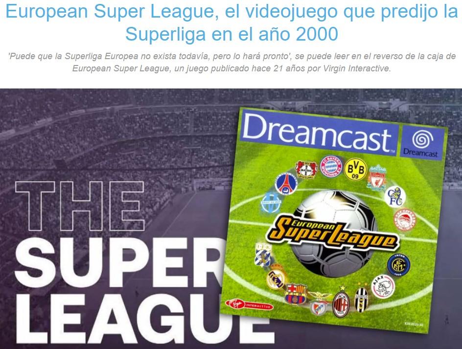 Un juego predijo la Super Liga hace 21 años