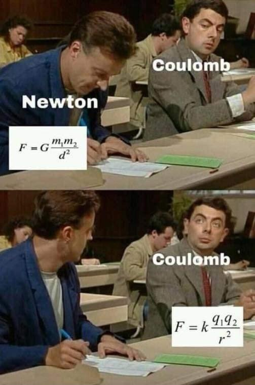 Newton vs Coulomb