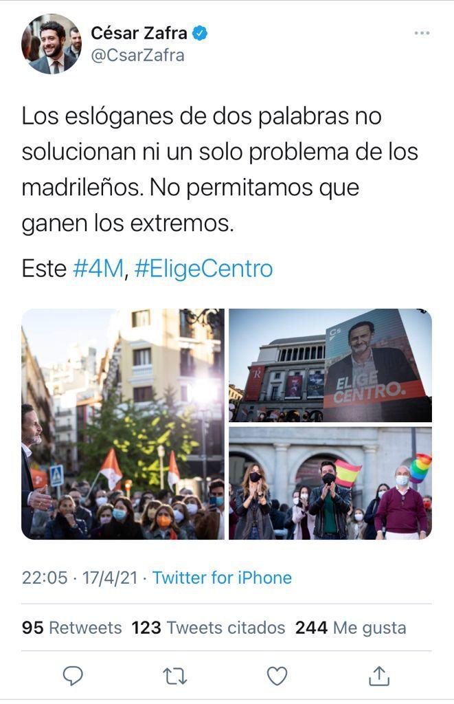 """""""Los eslóganes de dos palabras no solucionan ni un solo problema de los madrileños"""""""
