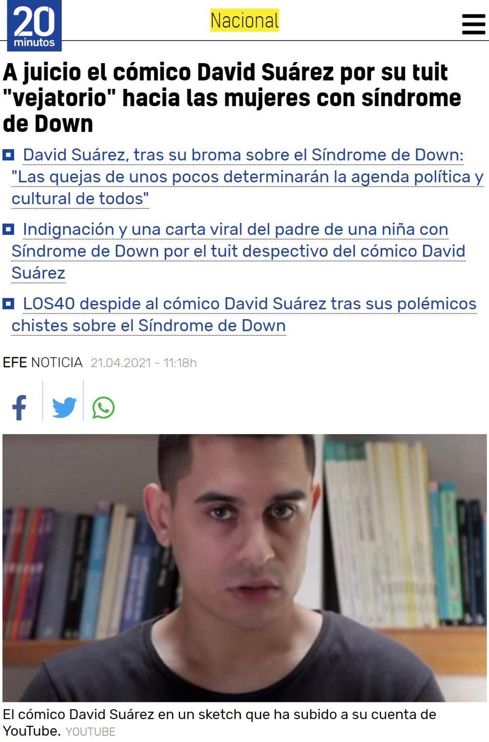 """David Suárez: le piden 5 años de inhabilitación """"para la comedia"""" LOL"""