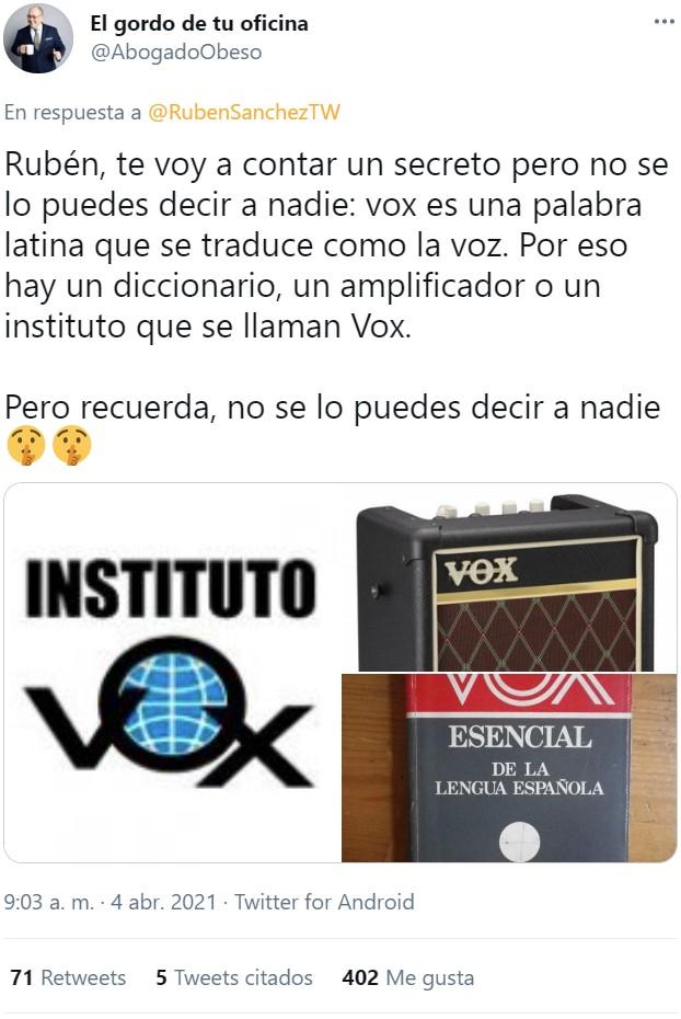 Rubén Sánchez en... CSI TWITTER.