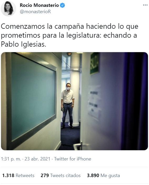 Pablo Iglesias abandona el debate en La Ser