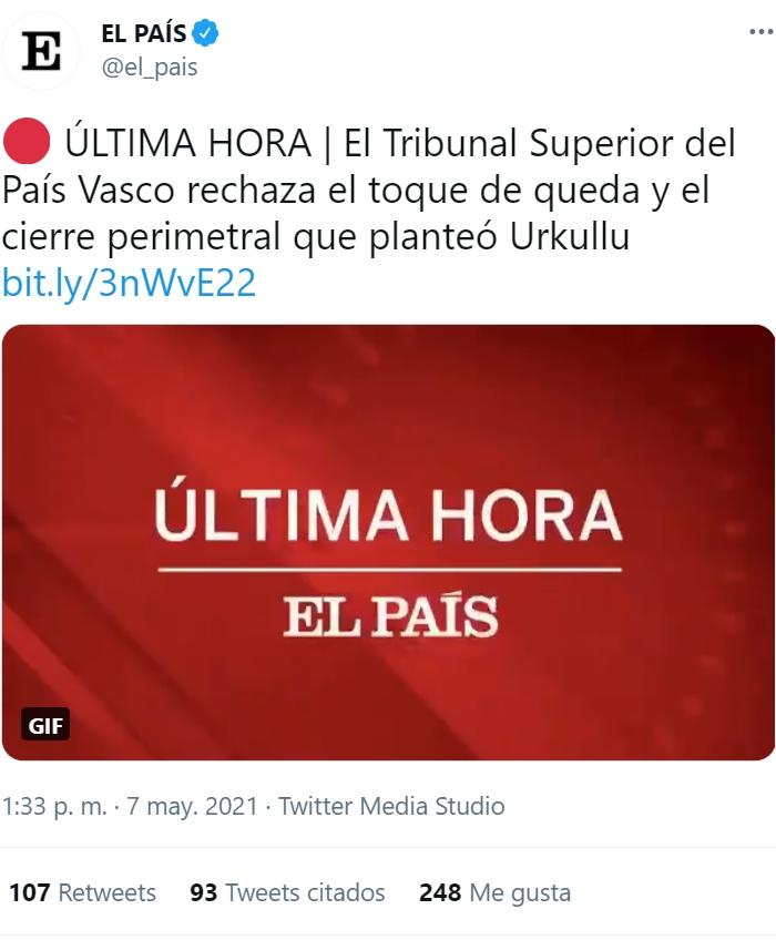 Cantabria abriendo las restricciones y Urkullu intentando mantener cerrado el País Vasco... Están los bilbainos sacando las antorchas para poder ir a Castro y Laredo...