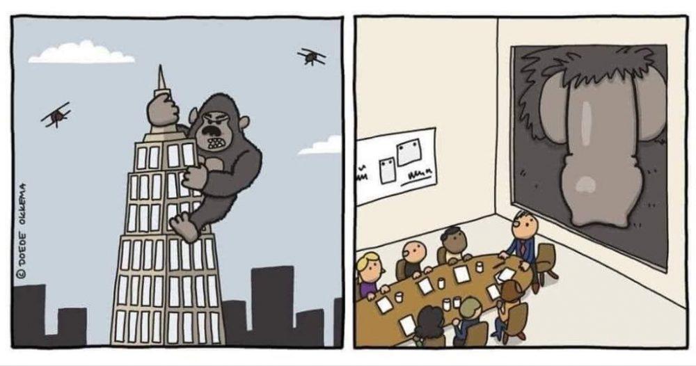 ¿Nadie pensó en esto durante la escena mítica de King Kong escalando el Empire State?...
