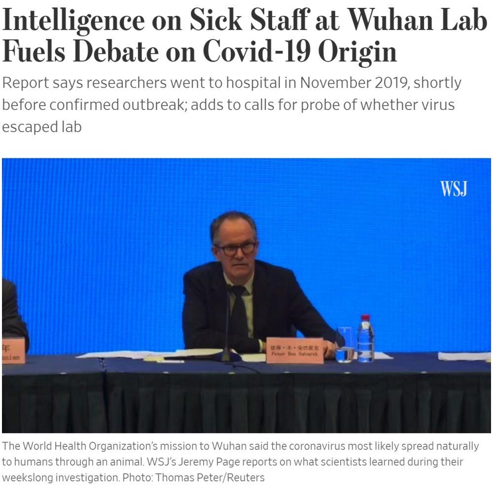 The Wall Street Journal: Nuevos indicios apuntan a que el virus pudo escapar de un laboratorio en Wuhan