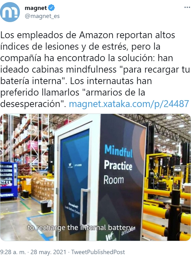 Amazon ha escuchado a sus trabajadores, y ha creado la solución para que puedan gritar de impotencia sin que molesten a sus jefes