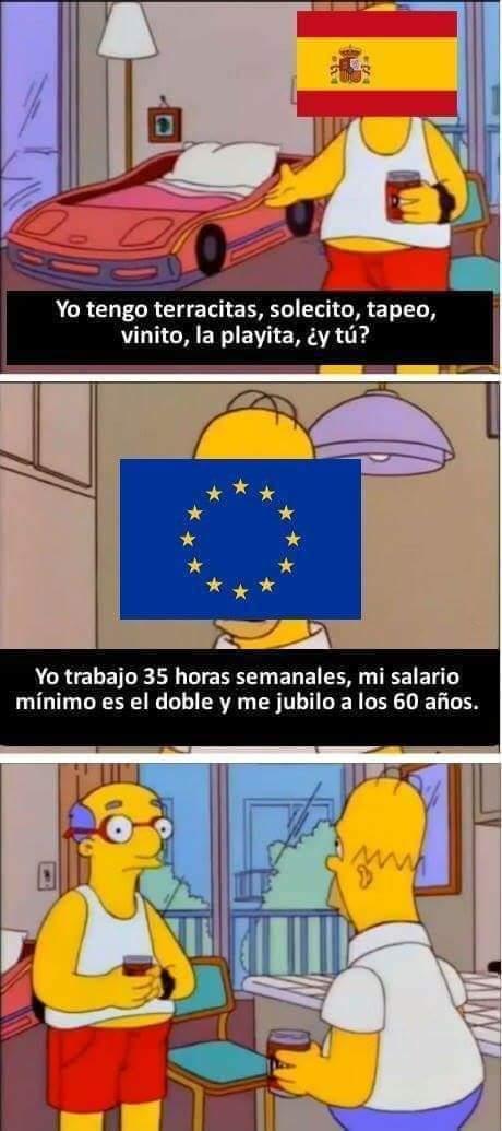 España vs el resto de Europa