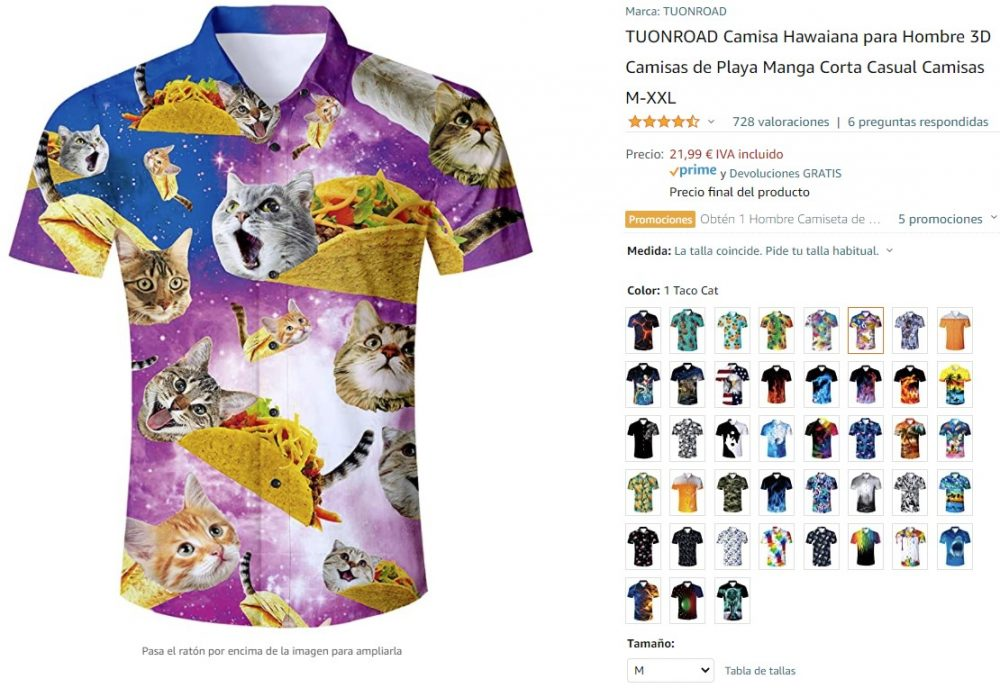 ¿Me acabo de comprar esta camisa? Me acabo de comprar esta camisa.