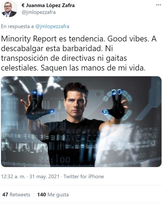 Después del Ministerio de la Verdad, y la Agencia Espacial Española, llega... la Unidad de Policía de Precrimen.