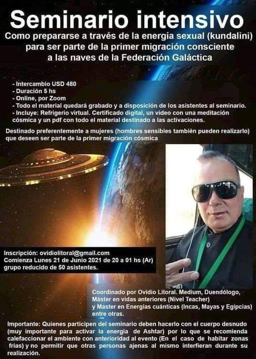 Seminario intensivo de migración consciente a las naves de la Federación Galáctica