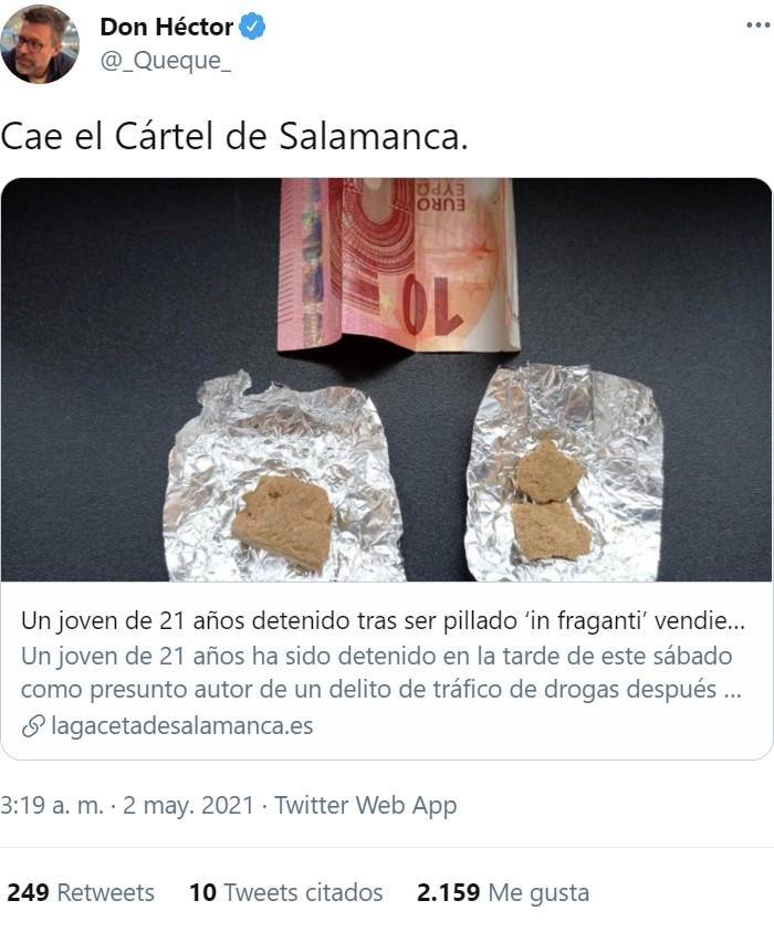 Duro golpe al narcotráfico en Salamanca