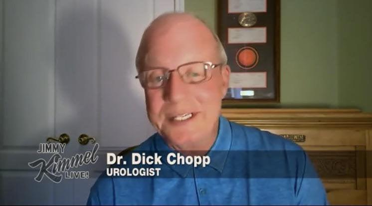 """Hace dos meses Jimmy Kimmel entrevistó a un urólogo que se llama """"DICK CHOPP"""""""