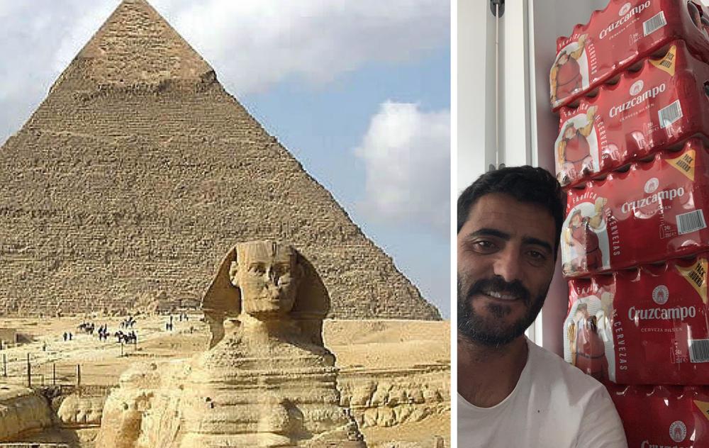 La gran pirámide de Guiza / La gran pirámide de Güiza.