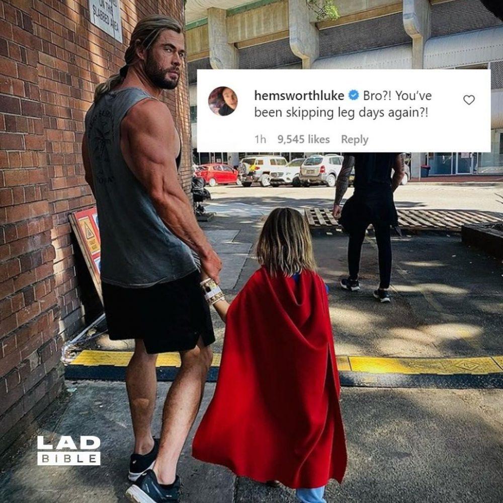 Hasta Thor se salta el día de piernas...