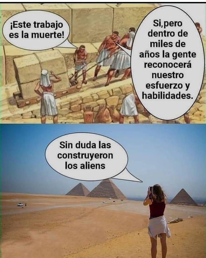 Si los egipcios levantaran la cabeza...