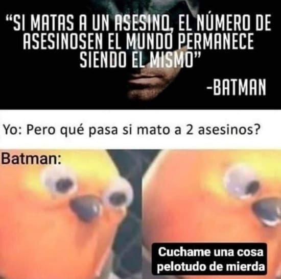 La filosofía de Batman tiene algunas lagunas...