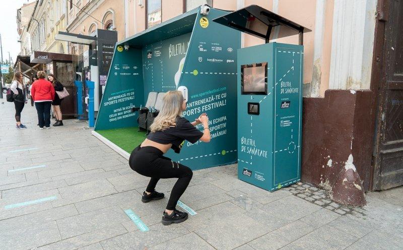 Una parada de bus en Rumanía te da un viaje a coste 0 si haces 20 sentadillas delante de la máquina expendedora