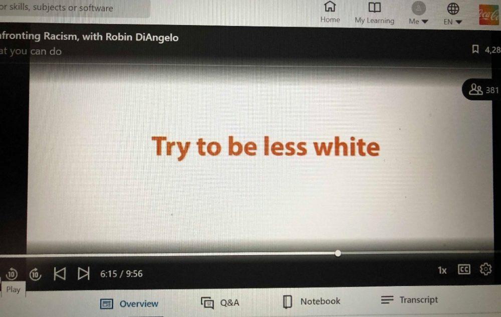 """""""¿Eres blanco? No seas blanco"""""""