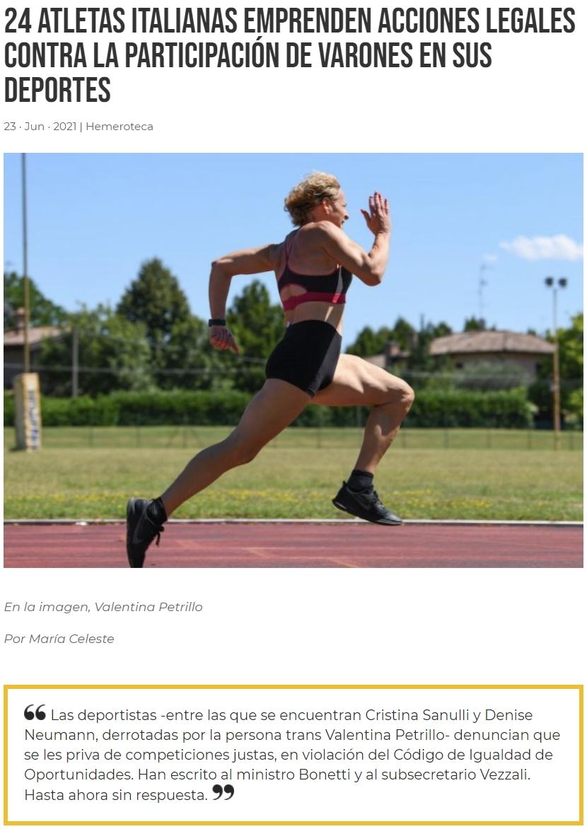El mejor deportista masculino es un hombre... la mejor deportista femenina... también es un hombre