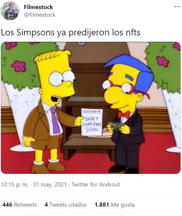 Los Simpson también predijeron los NFT...