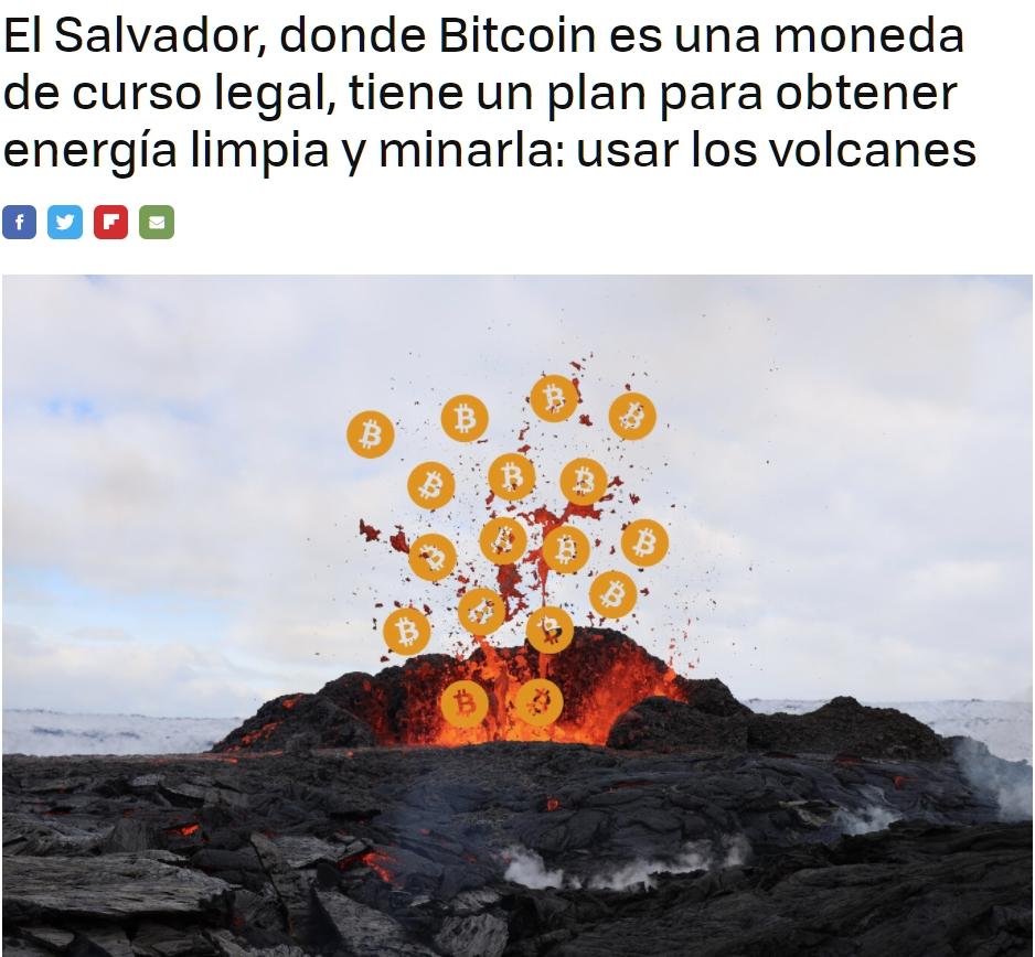 Sacar energía de los volcanes: la idea del presidente de El Salvador para poder minar Bitcoin de forma sostenible