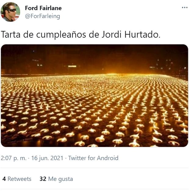 Feliz cumpleaños, Matusa... JORDI!