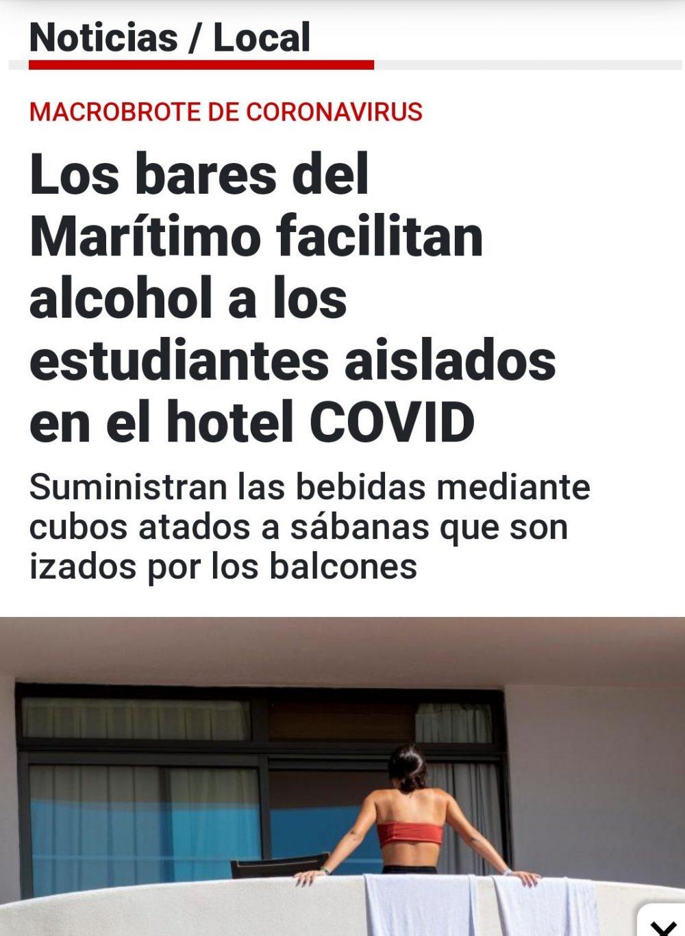 Llegan los primeros suministros humanitarios a los pobres chavales que malviven en un hotel durante su encierro por cuarentena