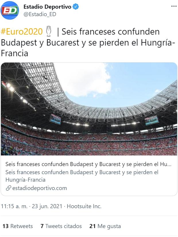 Ha vuelto a pasar: confunden Budapest con Bucarest