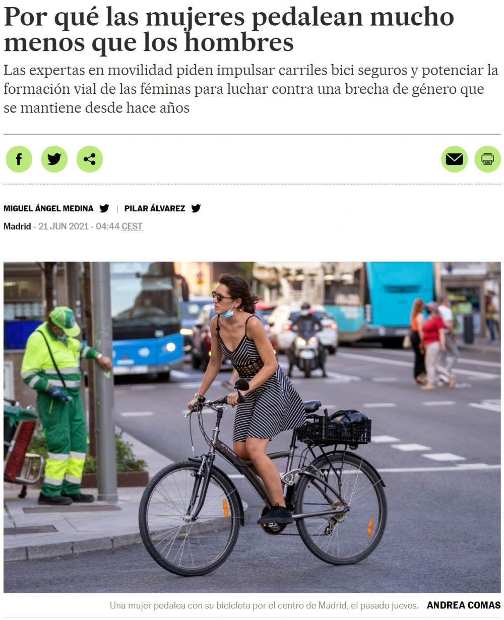 Atentos porque llega... ¡La brecha de género biciclista!