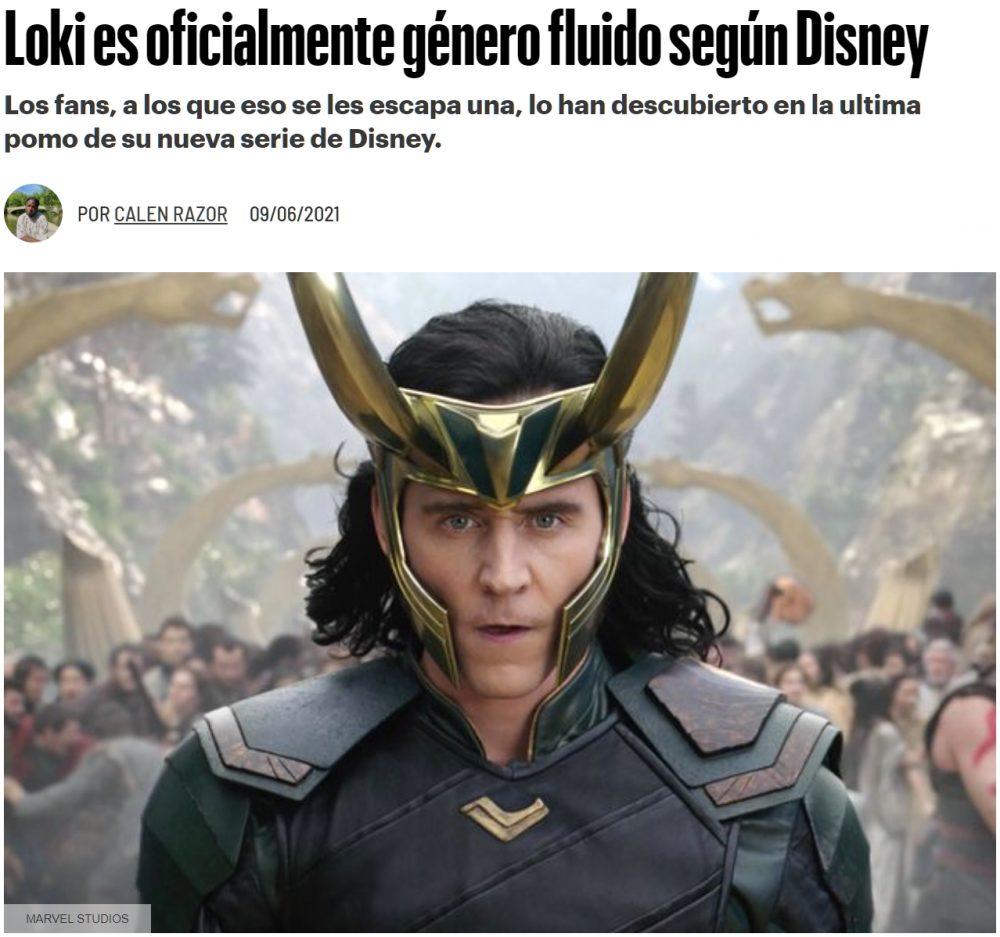 Breaking News: Loki es género fluido