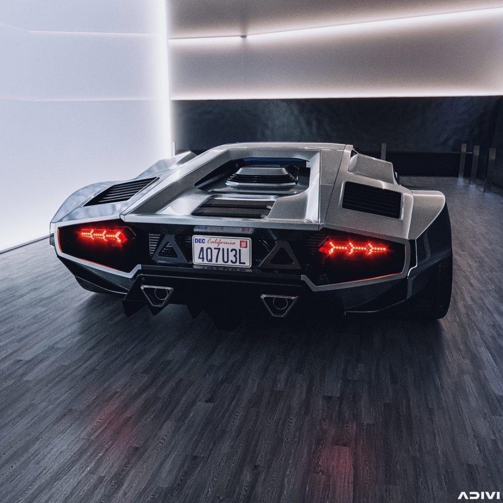 Espectacular restomod del Lamborghini Countach