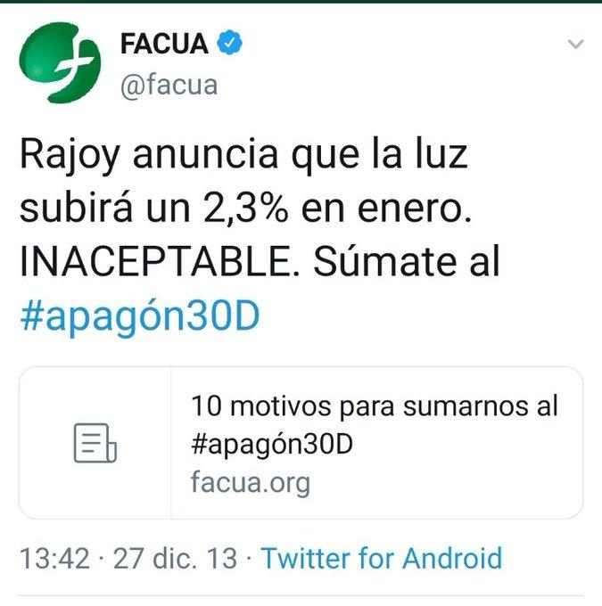 Esto es lo que decía Irene Montero cuando la luz subió un 4% mientras gobernaba Rajoy. Hoy sube un 44% estando Pablo de vicepresidente.