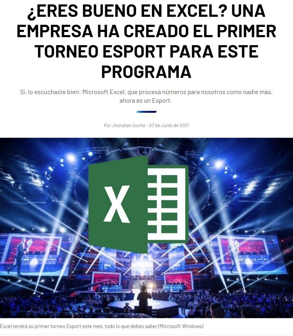Excel convertido en eSport