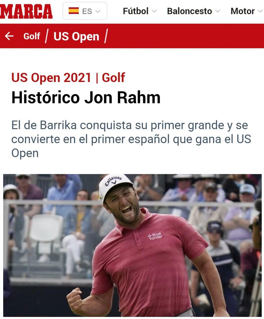 Jon Rahm se convierte en el primer español en ganar el U.S Open