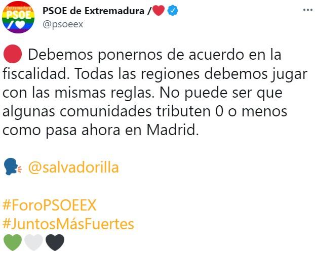 """""""Todas las regiones debemos jugar con las mismas reglas"""". País Vasco y Navarra ya tal..."""