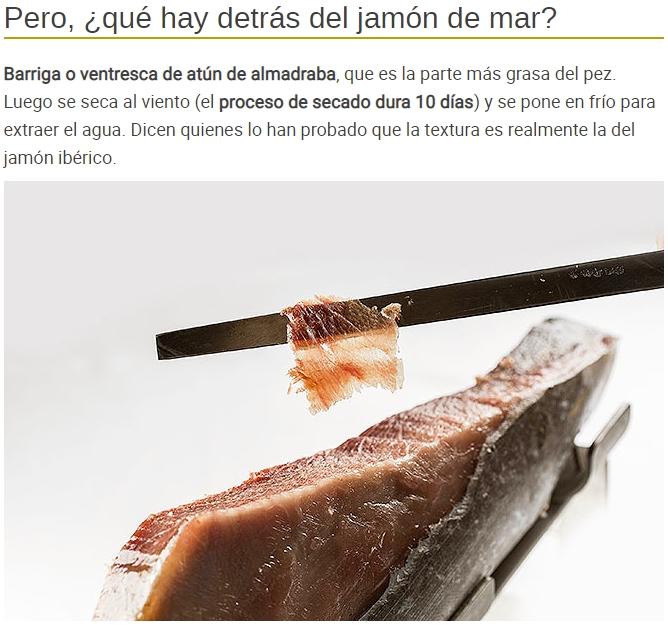 El chef Ángel León presenta en Madrid Fusión su jamón de mar