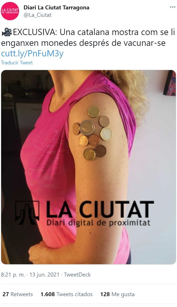 No se me ocurre mejor forma de promocionar que los catalanes se vacunen...