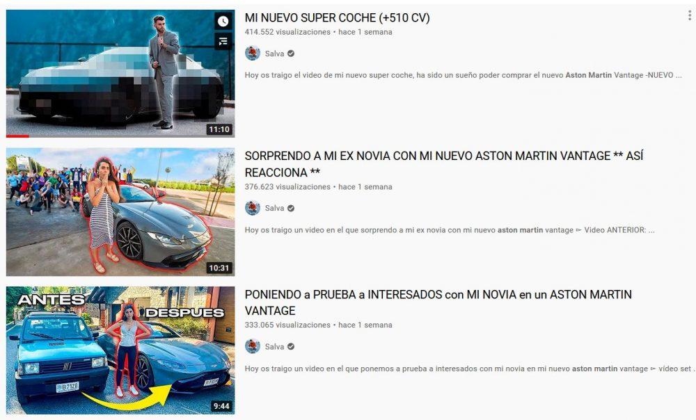 Poco le ha durado el Aston Martin a este youtuber...
