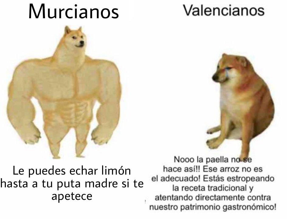 Murcianos vs valencianos