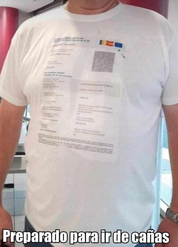 Camiseta certificado, el outfit ideal para salir de cañas