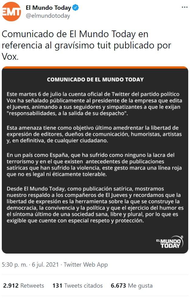 Para odiar tanto a los terroristas de ETA, VOX hace cosas que me recuerdan bastante a ellos...