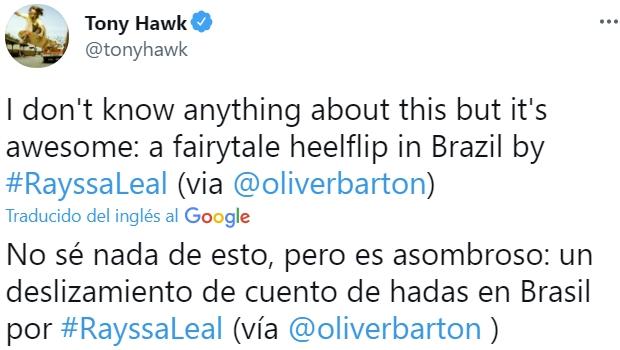 Tony Hawk tiene buen ojo...