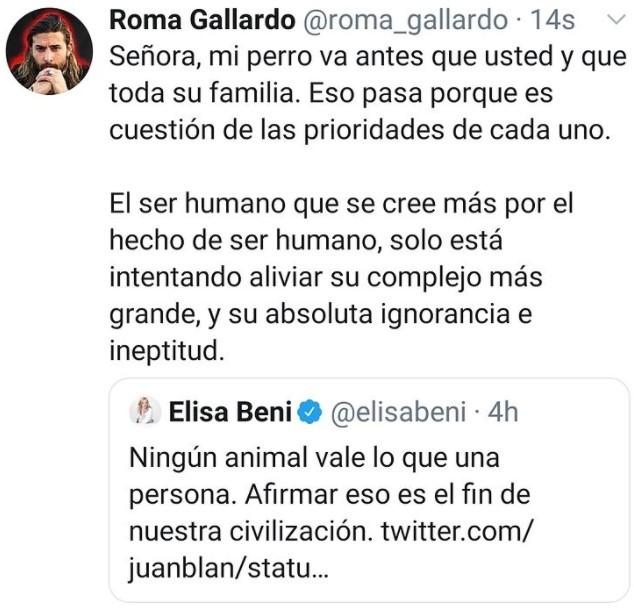 Le tengo que dar la razón a Elisa Beni...